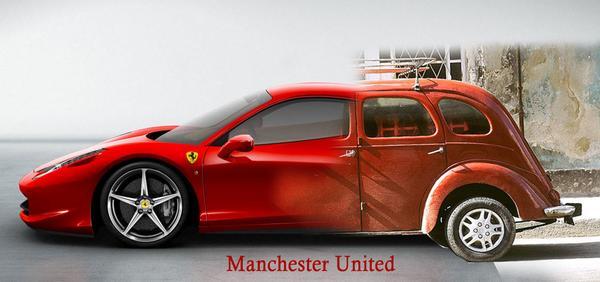 مانشستر يونايتد أسوأ مويس وسيارة غبية