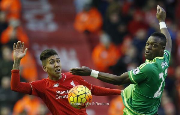 الدوري الانجليزي: سندرلاند يحرج ليفربول ويخطف التعادل مواجهة مثيرة<br />