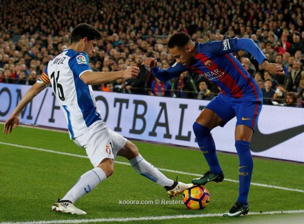 عقبة إسبانيول تهدد زحف برشلونة نحو لقب الليجا