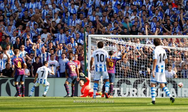 سوسييداد انتصاراته (اهداف المباراة) برشلونة