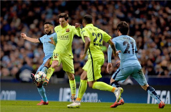 برشلونة يتلاعب بمانشستر سيتي ليلة