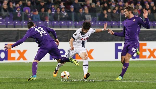 الدوري الأوروبي : توتنهام يعود من ملعب فيورنتينا بتعادل ايجابي