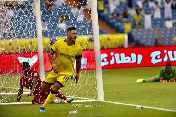 بالصور.. النصر يهزم افتتاح الدوري السعودي