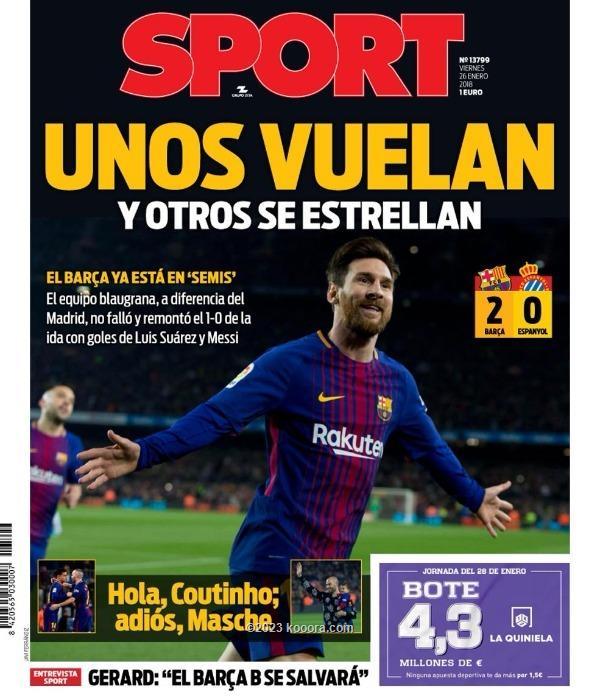 رسالة رونالدو وعودة برشلونة يتصدران صحف إسبانيا koo_34215.jpg