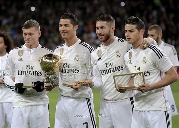 ريال مدريد يسيطر على المرشحين لفريق اليويفا 2016