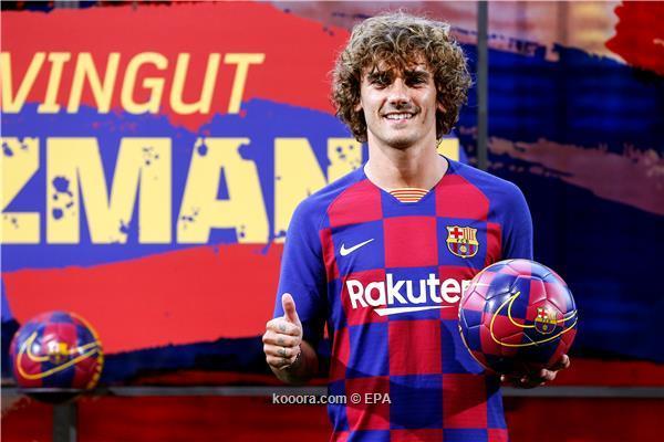 صورة جريزمان يكشف رقمه مع برشلونة