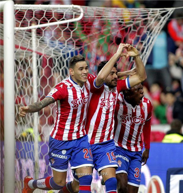 سبورتينج خيخون يكتسح ريال سوسيداد في الدوري الأسباني<br />
