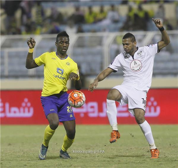 الدوري السعودي : النصر يهزم هجر بهدف ويستعيد نغمة الانتصارات