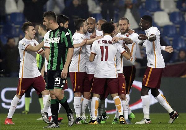 بالدوري الايطالي ..صلاح يقود روما لفوزاً صعباً على ساسولو