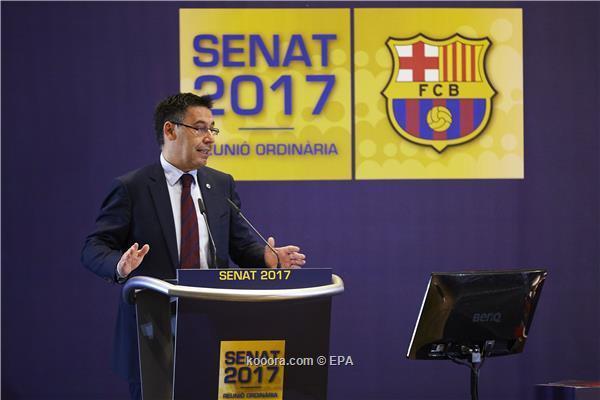 رئيس برشلونة يوضح موقفه الاستقالة