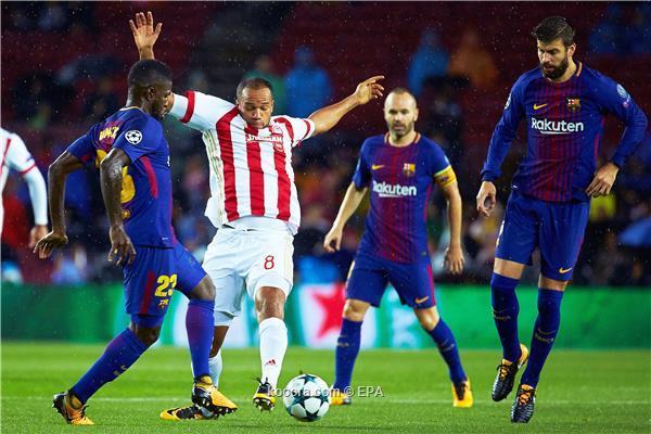 مدافع برشلونة يظهر بأجندة صفقات جوارديولا