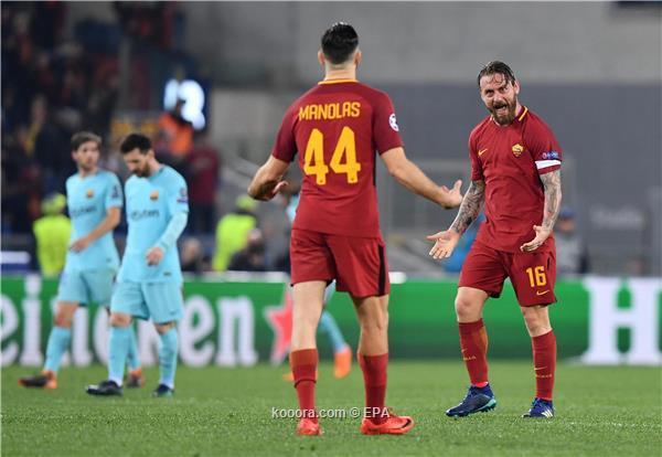 روما يفجر المفاجأة ويطيح ببرشلونة
