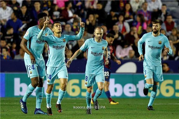 ليفانتي ينسف برشلونة بخماسية مباراة