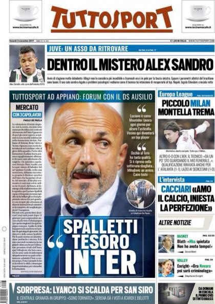 - إصابة غلام ومصير مونتيلا الأبرز في الصحف الإيطالية IMG_3659