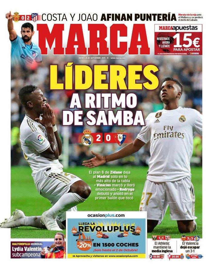 صدارة الريال وجوهرة برشلونة في صدر صحف إسبانيا A88