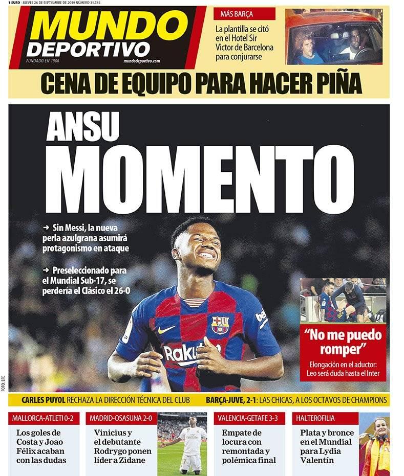 صدارة الريال وجوهرة برشلونة في صدر صحف إسبانيا A89