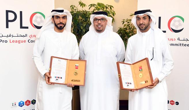 لجنة المحترفين الإماراتية تكرم حكمي المونديال