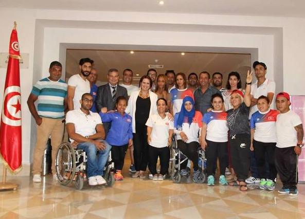 بالصور: الشارني تزور معسكر منتخب ألعاب القوى للمعاقين
