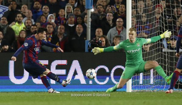 برشلونة ينهي أمال مانشستر سيتي