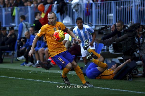 الدوري الاسباني : برشلونة يتخطي عقبة ملقا ويحافظ على الصدارة