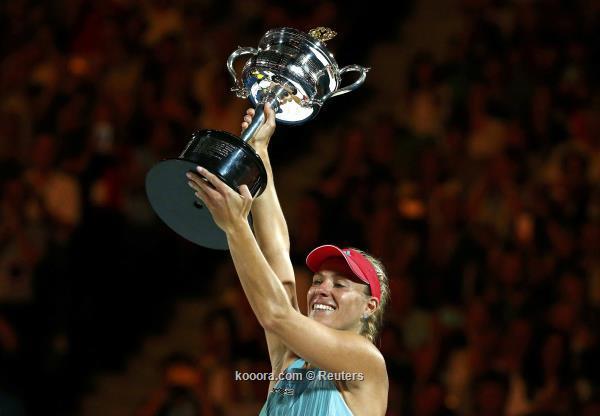 بطولة أستراليا المفتوحة للتنس : الألمانية أنجليكه تفاجىء سيرينا وتتوج باللقب