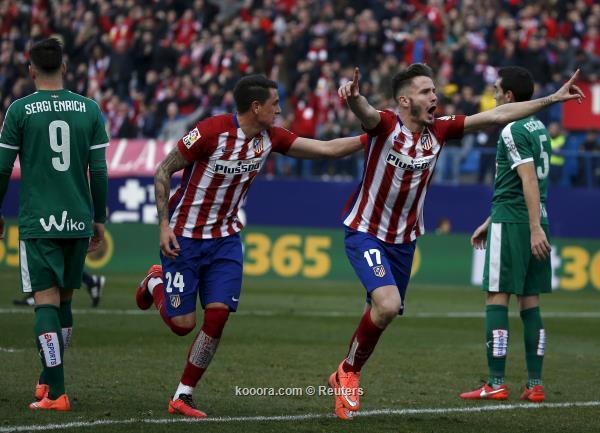 الدوري الاسباني: أتلتيكو مدريد يحقق فوز ثمين علي إيبار بثلاثية<br />