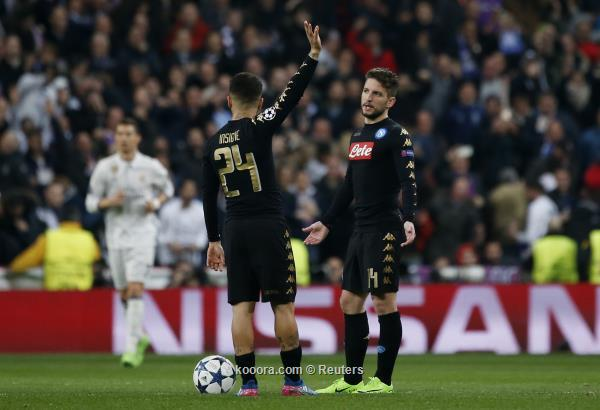 نجم نابولي يتوعد ريال مدريد