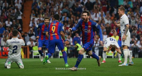 ميسي يصعق ريال مدريد الوقت