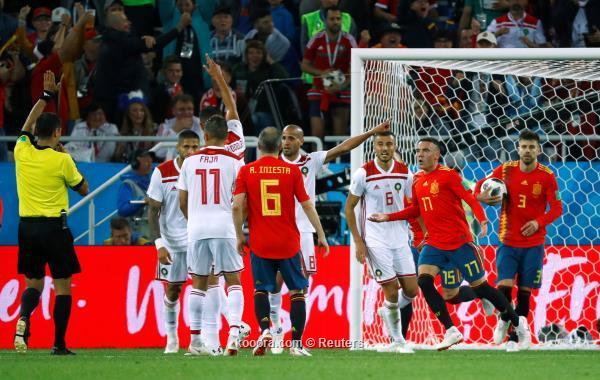 المونديال (أهداف+ملخص+المباراة المغرب تتعادل اسبانيا