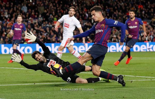 برشلونة يحقق فوزا سهلا على ضيفه إيبار 26