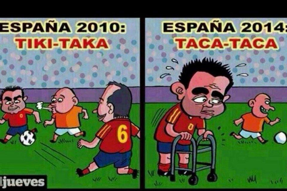 صورة تشرحالفرق بين اسبانيا 2010 و2014