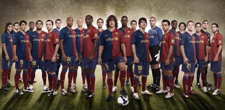 برشلونة رسيما لبطولة الدوي الليكا سنة 2008-2009