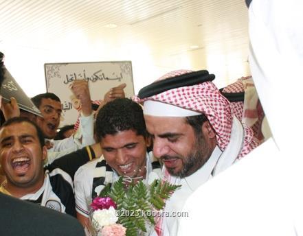 التايب يصل إلى الرياض وسط استقبال حافل