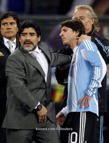 مارادونا سعيد بمقارنته بميسي لأنها