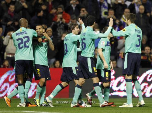 برشلونة يثأرمن هيركوليس ويعادل الرقم