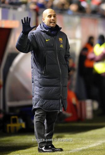 جوارديولا مفتخرا: برشلونة أفضل فريق تنافسي في العالم