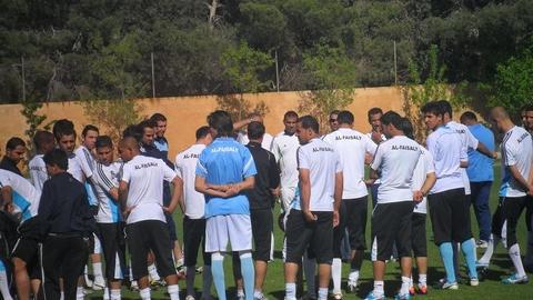 من تدريب الفيصلي اليوم خاض فريق الفيصلي الأردني لكرة القدم اليوم الإثنين تدريبا مكث